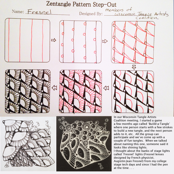 Tess's Zentangle Patterns Tangled String Creations LLC Fascinating Zentangle Pattern
