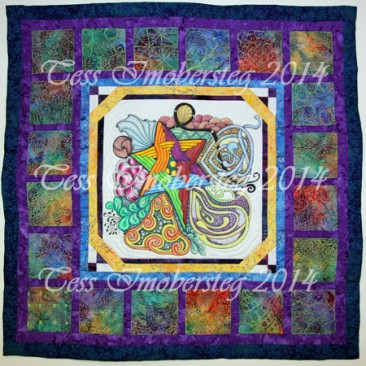 Quilt shown at the 2014 Wisconsin Quilt Expo